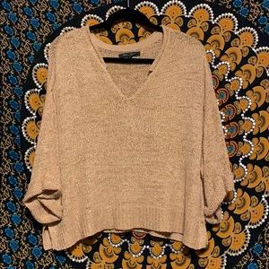 Flowy Sweater | Wide Arm | Gold & Tan